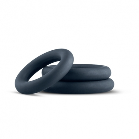 SET OF 3 SILICONE COCKRINGS