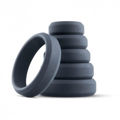 SET OF 6 SILICONE COCKRINGS