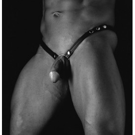 HARNESS-JOCK LEDER + COCKRING METALL