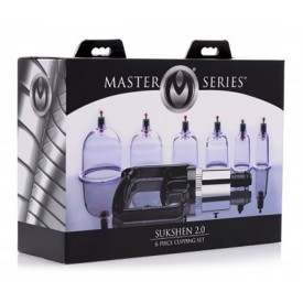 SET DE 6 VENTOSAS CON BOMBA MANUAL SUKSHEN by MASTER SERIES