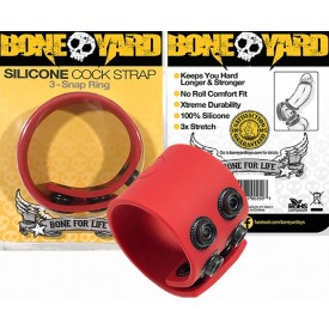 BALLSTRETCHER AJUSTABLE 4CM SILICONE BALL STRAP by BONE YARD