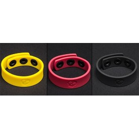 COCK STRAP SILICONE 3 SNAPS RING by BONE YARD
