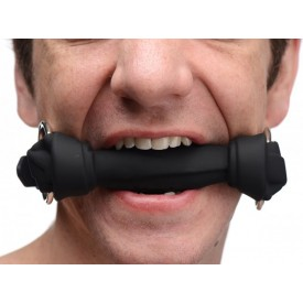 GAG BAILLON SILICONE OS DE CHIEN NOIR BY XR BRANDS