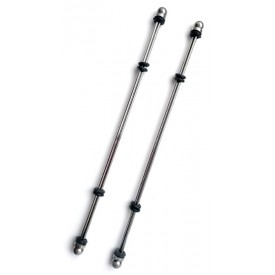 2 LONGUES PINCES A TETON 20CM EN ACIER INOXYDABLE ZE STICKS BY DARK LINE