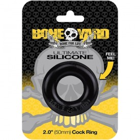 ULTIMATE COCKRING SILICONE BONEYARD BLACK