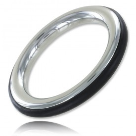 ZE CAZZO STEEL AND SILICONE BLACK COCKRING