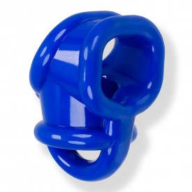BALLSLING COCKRING BALLSTRETCHER EN FLEX TPR BLEU BY OXBALLS