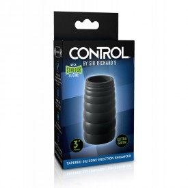 "Tapered silicone erection enhancer 3"" CONTROL by Sir Richard's"
