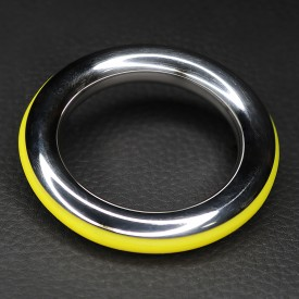 ZE CAZZO STEEL AND SILICONE YELLOW COCKRING
