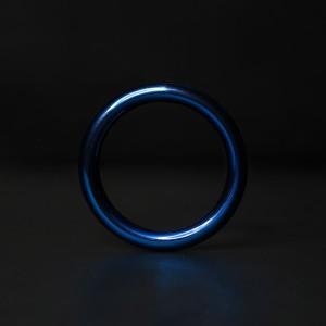 ANNEAU DE GLAND ACIER BLUE ROUND
